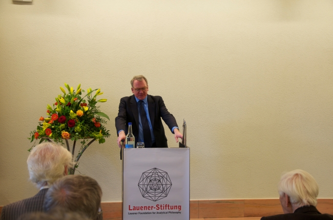 Prof. Dr. Ian Rumfitt, Laudatio for Prof. Sir Michael Dummett