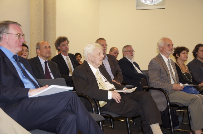 Prof. Sir Michael Dummett in the audience