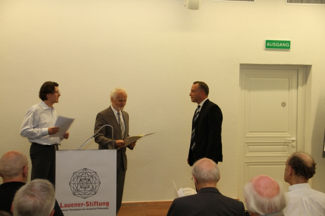 Presentation of the Lauener Prize for Up-and-Coming Philosophers 2012