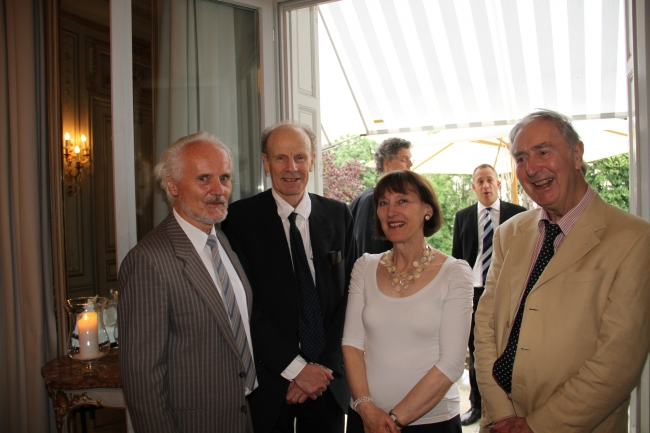 Wilhelm Essler, Pierre Jacob, Phillida Gili, David Wiggins at the cocktail reception