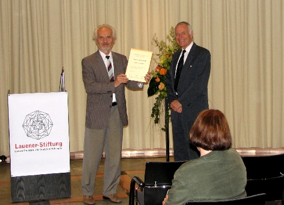 Presentation of the Lauener Prize for an Outstanding Oeuvre 2006