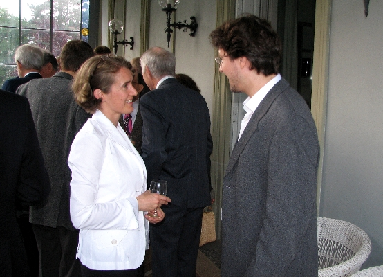 Cecilie K. Kverme (Norwegian Embassy) and Dr. Michael Frauchiger