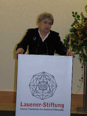 Prof. Dr. Ruth Barcan Marcus, Words of Thanks