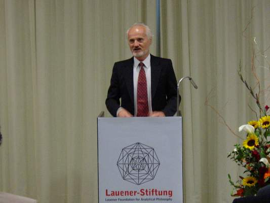 Address of the President of the Lauener Foundation,