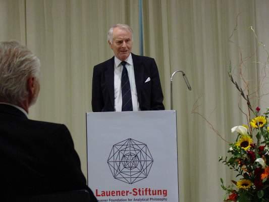 Laudatio for Patrick Suppes (Prizewinner 2004), Prof. Dr. Dagfinn F�llesdal