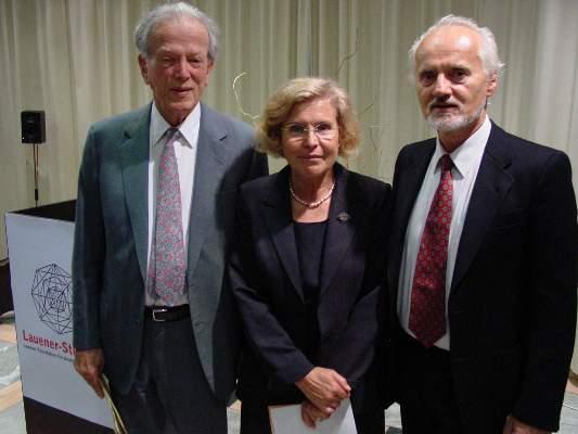 Prof. Dr. Patrick Suppes, Prof. Dr. Susanne Suter and Prof. Dr. Wilhelm K. Essler